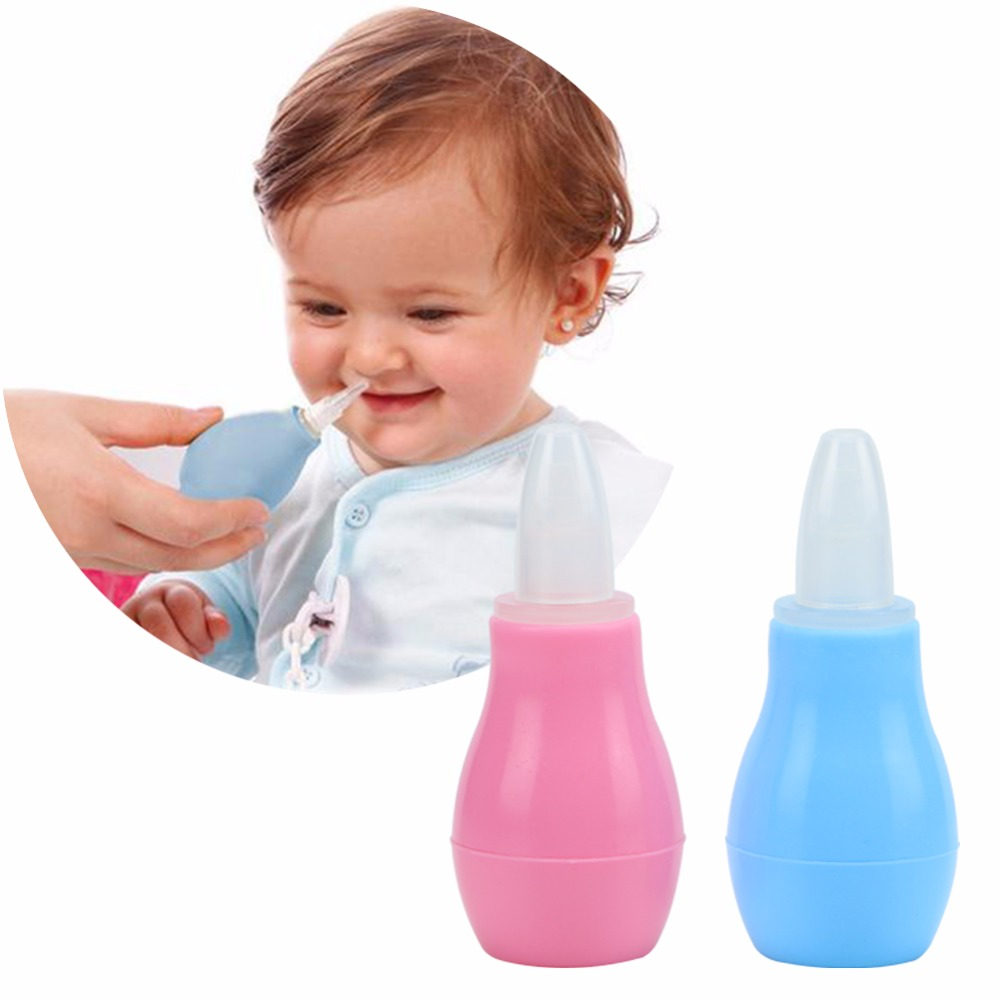 New borns Kids Nasal Vacuum Mucus Suction Aspirator Soft Tip Runny Nose Cleaner hot ...
