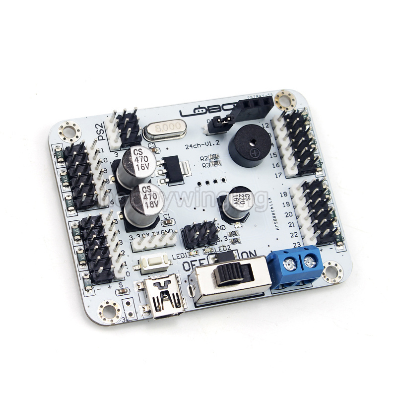 24CH Servo Controller robot Control Board support PS2 / Bluetooth / MP3 module RC manipulator Mechanical Arm Bipedal Robot