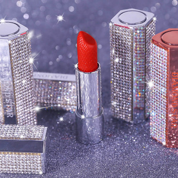 xixi brand Diamonds star bright lipstick girl high value star value lip gloss Waterproof easy to color shiny and charming makeup