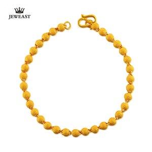 Image 3 - BBB 24K czystego złota bransoletka kobieta moda biżuteria koraliki do paznokci bransoletka złoty piasek Transport bransoletka dla kobiety Party prezent grzywny