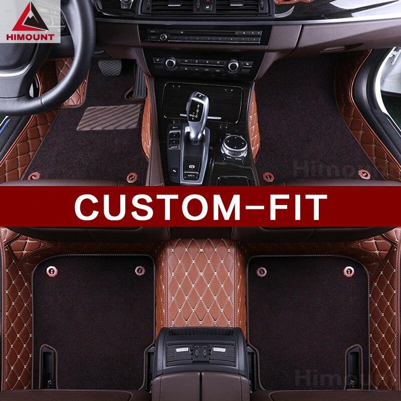 Tapis de sol de voiture sur mesure pour Cadillac Escalade ATS CTS CTS-V CT6 SRX XTS XT5 SLS revêtement en cuir robuste tous temps