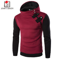 John S Bakery 2017 Hoodies Brand Men Double Zipper Buckle Sweatshirt Male Hoody Hip Hop Autumn