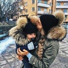DARCHROW Cute font b Winter b font Mom Women Baby font b Kids b font Crochet