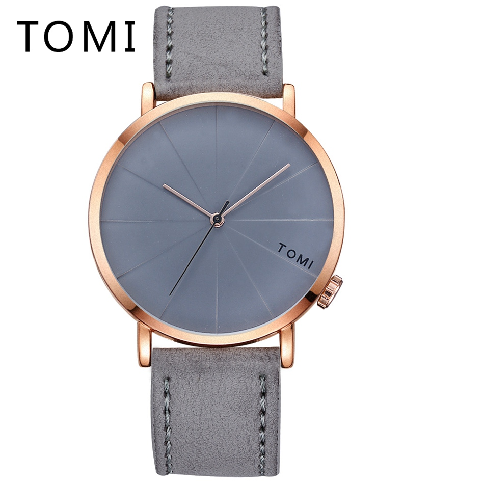 Tomi Brand Luxury Men Watches Leather Strap Sport Military Quartz Wristwatch Cheap Mens Business Clock Dress Wrist Watches tomi mens watches top brand luxury men business sport leather strap watch dress vintage style quartz wristwatch relogio t017