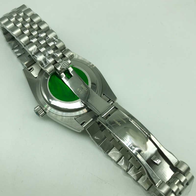 Cyframi rzymskimi szary dial luminous mężczyzn zegarek automatyczny 41mm Glide gładka z drugiej ręki rolex klamra składane AAA wysokiej jakości zegarki
