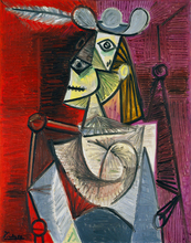portrait canvas painting Pablo Picasso Woman in an Armchair portrait masterpiece reproduction free shipping