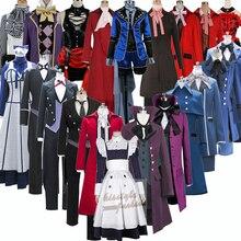 Черный Дворецкий цирк Джокер Kuroshitsuji Себастиан группа персонажей аниме косплей костюм, индивидуальные принимаются