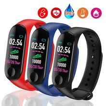 2PCS/LOT Smart Bracelet Color Screen Heart Rate Monitor Blood Pressure Fitness Tracker Life Waterproof Wristbands