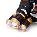 Lithium headlamp searchlight 3 light super bright long-range fishing headlight outdoor night riding headlights miner's lamp