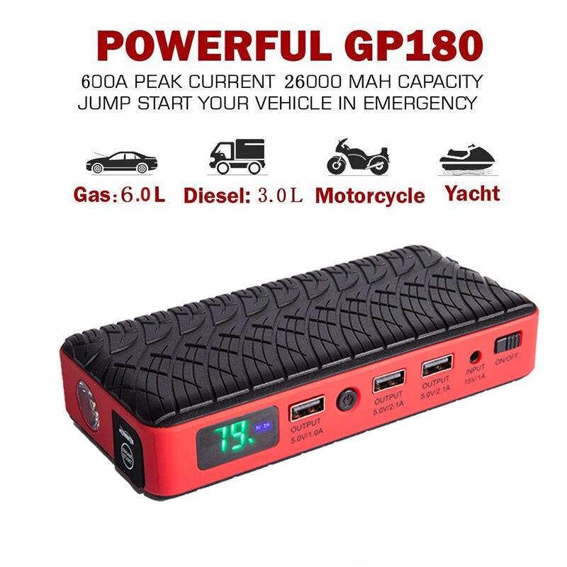 jump starter car battery 12v boosters diesel 26000mah. Black Bedroom Furniture Sets. Home Design Ideas