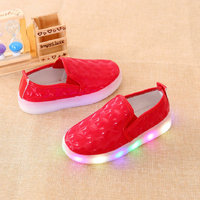 Spring Kids LED Sneakers LED lighting Children casual shoes Flat Baby girls Boys luminous Shoes with light size 21~30