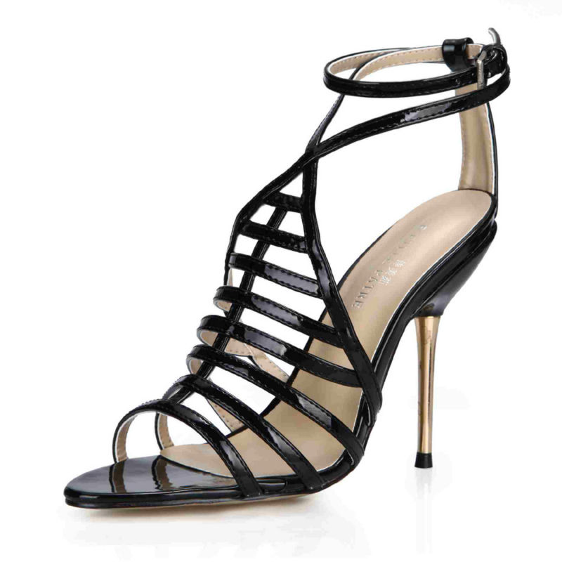 2016 New Red Sexy Party Shoes Women Open Toe Stiletto High Heels Gladiator Rome Elegant Ladies Sandals Zapatos Mujer 3845C-4b brand new stiletto high heels sandals gladiator women sexy platform rome style shoes summer ladies open toe buckle pumps fashion