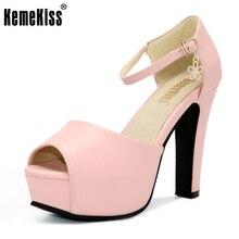 Kemekiss Размеры 34–43 Офисные женские туфли босоножки на высоком каблуке на платформе открытый носок Летние женские туфли стильная женская обувь для вечеринки и свадьбы обувь