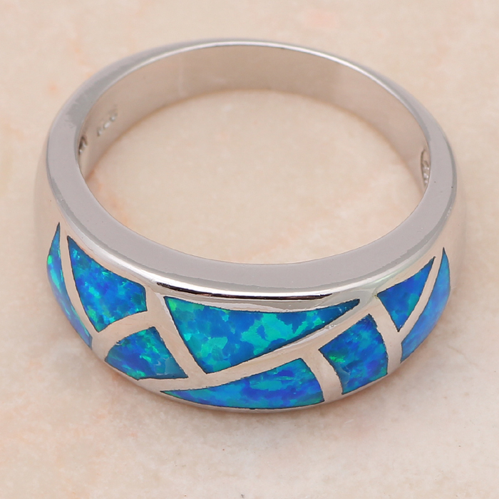 Spitzenverkaufs-neues kühles Art-blaues Feuer-Opal-Silber stempelte - Modeschmuck - Foto 2