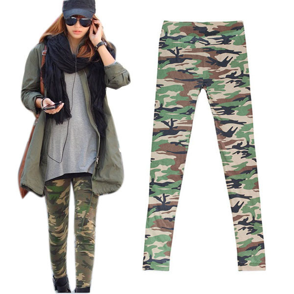Newest Womens Camouflage Army Print Stretch Cool Sexy Pants Skinny Leggings Trousers