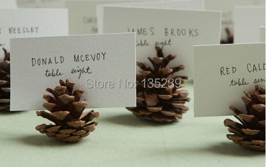 WEDDING PINECONE ESCORT Cards Rustic : Set Of 20 Woodland