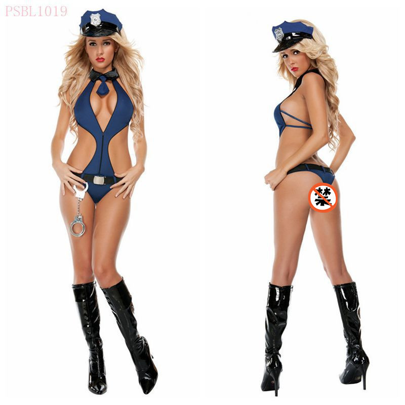 free shipping adult woman sexy lingerie halloween cosplay policewoman costumes police sexy uniform one pieces - Girls Cop Halloween Costume
