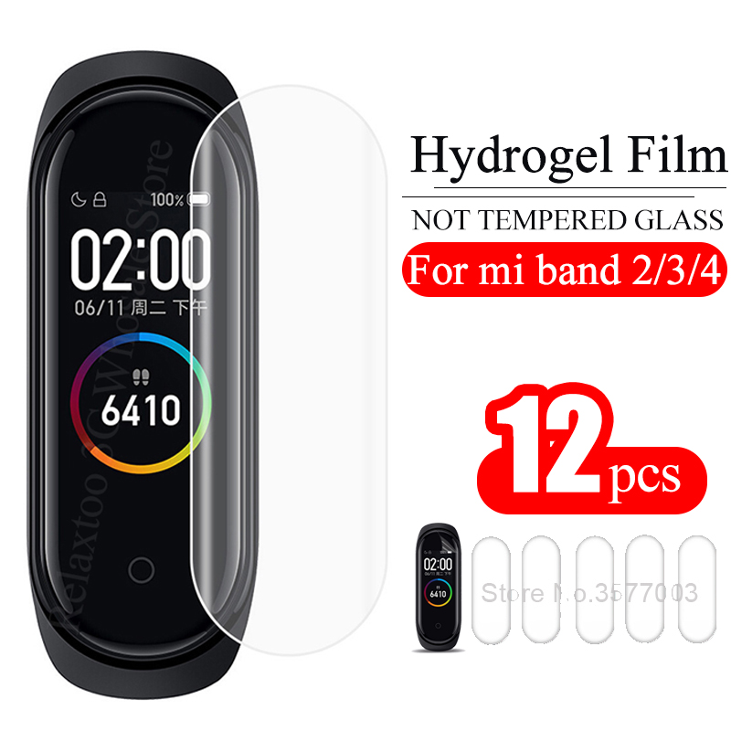 12Pcs Mi Band 4 Screen Protector Film For Xiaomi Mi Band 3 2 Smart Wristband MiBand 4 Miband4 Bracelet Films Not Tempered Glass