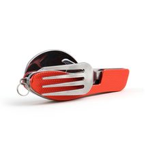 Protable Outdoor Camping Picnic Tableware Stainless Steel Bottle Opener Cutlery 4 in 1 Folding Fork Knife Travel sets