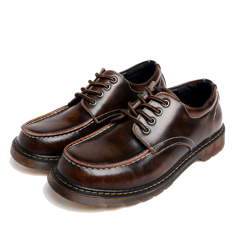 Hot Fashion Vintage Men Work Shoes Men's Lace-up Breathable Round Toe Leather Shoes Increased Casual Men Oxfords Plus Size 38-46 men party shoes oxfords 2015 hot men s genuine leather shoes brand sapato masculino couro social round toe palladium shoes 38 46
