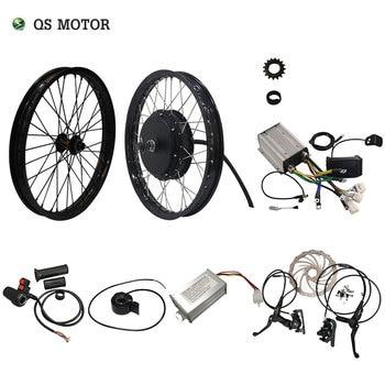 QS Motor 205 50H V3 Electric high power electric bicycle kit and E bike kit with spoke hub Motor 3000W Powerful Hub Motor Kit