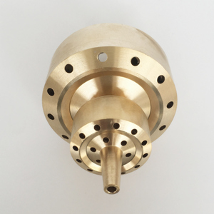 """Image 2 - 1"""" 1.5"""" Brass Double 2 Layer Shining Coat Flower Column Fountain Nozzles"""