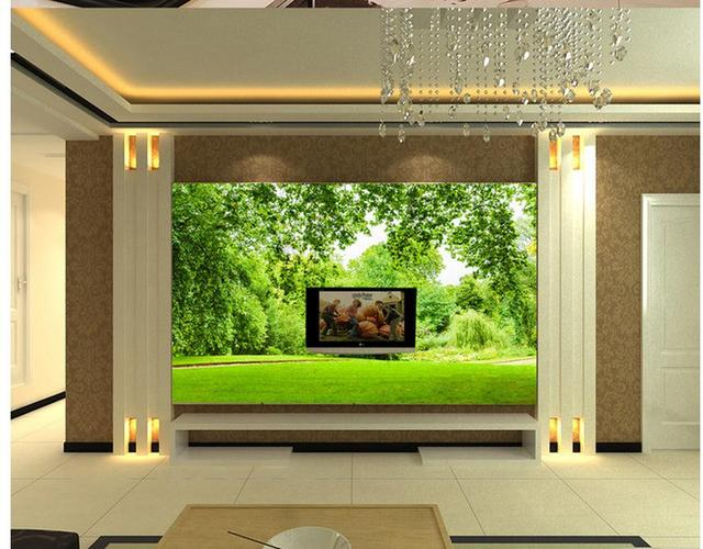 3d Badezimmer Tapete Green Leaf Gras Landschaft 3D TV Wand Fotowand  Wandbilder Wallpaper Dekoration