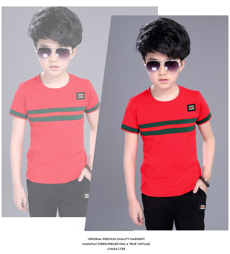 Casual Active Boys Clothes Set Summer Girls Teenage T Shirt Shorts Children Suit 2019 Kids Outfits Sports Clothing For Boys 2Pcs (12)