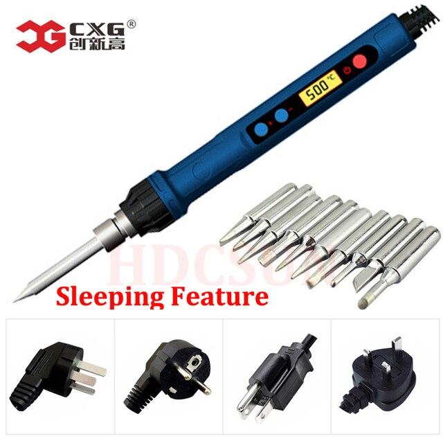 2019 nuovo CXG 110V/220V EU/US D60W/D90W con il sonno funzione di saldatura del ferro lcd la tecnologia digitale con nuovo riscaldatore
