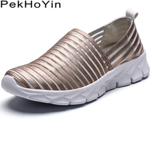 Women Trend Soft Fashion Sneakers Breathable Women Flats Shoes Zapatos Mujer Female Loafers Shoes Outdoor Woman Designer Shoes цена 2017