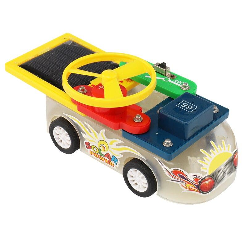 Creative solaire enfants assemblage électronique circuit blocs de construction bricolage éducation éducatifs puzzle jouets
