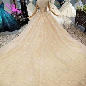Image 5 - AIJINGYU 高級ウェディングプラスサイズブライダルドレス王室光沢のあるショートフロント脂肪サイズセクシーなオンライン自由奔放に生きるウェディングサイト
