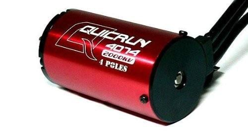 Hobbywing Quicrun 4074 4Pole 2000KV Brushless Sensorless Motor,1/8 RC Car truck