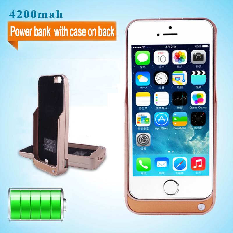4200Mah Battery Case For Iphone 5 5S Rechargeable Portable Backup ...