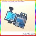 100% nueva original sd micro bandeja de tarjeta de sim sostenedor de la ranura flex cable para samsung galaxy s4 active i9295 i537 piezas de reparación de reemplazo