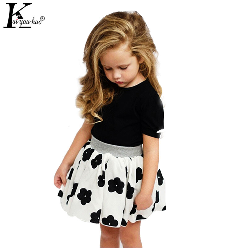 2017 Summer Tracksuit For Girls Clothes Short Sleeve Kids Outfits Suit Two-Piece Children Clothing Girl T-shirt+Skirt Sport Suit girls summer dress pullover girl clothes character short sleeve kids outfits 2016 summer style fashion kids t shirt for girls