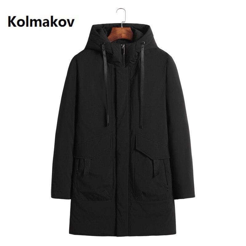 KOLMAKOV hiver vêtements pour hommes 90% blanc canard vers le bas à capuche vestes d'hiver manteaux décontracté epaissir vestes L-8XL