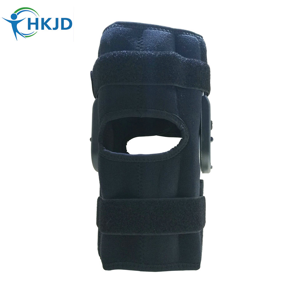 Adjustable Sports Leg Knee Support Brace Wrap Protector Pads Patella Brace Knee Belt Fastener Belted Sports Knee Brace Black kaiwei 0639 elastic crus support brace wrap black