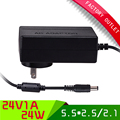 1pcs Universal ac 100-265V dc 24V 1A switching power supply  AU PLUG power adapter with 5.5*2.5mm jack