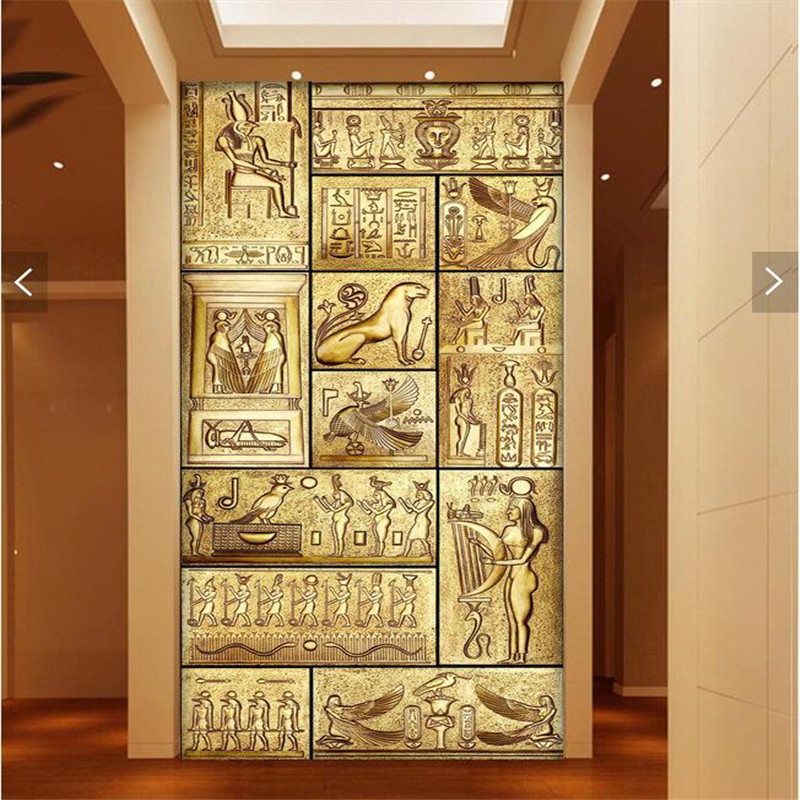 Beibehang 3d art backdrop beauty of egyptian art ancient for Egyptian decorations for home