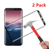 2 Pcs For Samsung Galaxy S8 Screen Tempered Glass Protector 0 33mm Anti Scratch HD Clear
