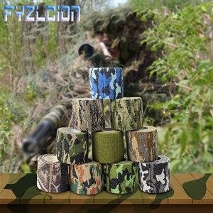 Image 1 - 4.5 センチメートル * 5 メートル狩猟テープ迷彩ステルスキャンプハント撮影ツールシリーズの防水不織布テープ混合粘着迷彩タップ