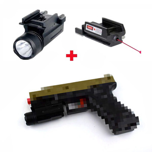 Тактический комбо 2в1 красный точечный лазерный прицел + светодиодный фонарик армейский охотничий страйкбол аксессуары для пистолета Glock 17 ...
