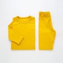 Children Pajamas For Girls Pijamas Infantil Cotton Sleepwear Plain Kids Baby Pajamas Set For Boy Winter