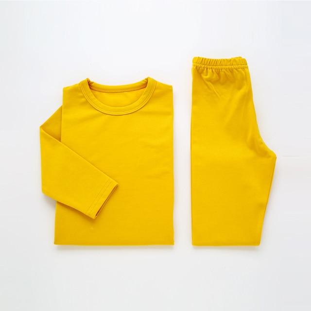 4a879b06d64e Children Pajamas For Girls Pijamas Infantil Cotton Sleepwear Plain ...