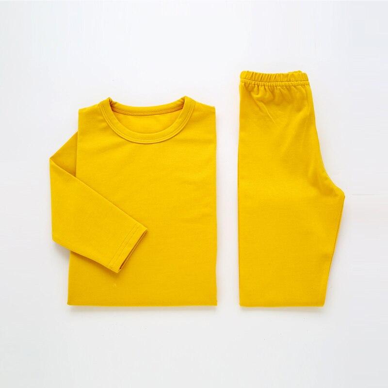 Children   Pajamas   For Girls Pijamas Infantil Cotton Sleepwear Plain Kids Baby   Pajamas     Set   For Boy Winter Underwear Clothing Suits