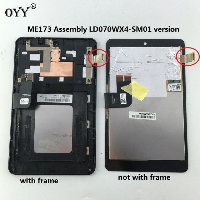 Monitor Lcd Tela Do Painel da Tela de Toque Assembléia Digitador de Vidro Para Asus MemoPad HD7 ME173 ME173X K00B LD070WX4-SM01