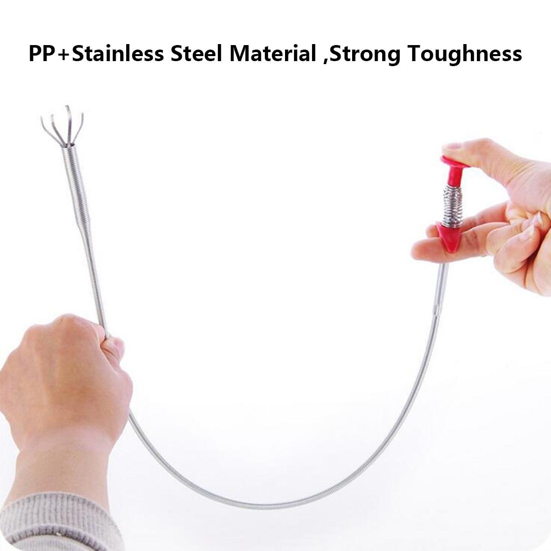 Reach Flexible Claw Pick Up Narrow Bend Curve Grabber H2I9 Long Spring Tool D1Q5