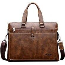 VKTERY marke pu-leder männer briefcare hochwertigen kommerziellen weiche PU leder business laptoptasche handtasche