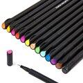 Мини 12/24 шт. набор тонких кистей для ручек микрон граффити художественный маркер цветная ручка для рисования лайнер калиграфия Finecolour каранд...